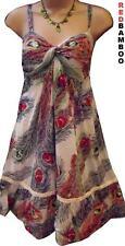 Lovely Peacock Sequin Summer Sun Dress Size 10 12 14 16