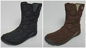 COLUMBIA POWDER SUMMIT MID BOOTS WATERPROOF INSULATED WINTER SNOW SIDE ZIP NEW
