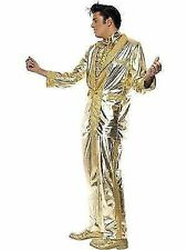 Elvis Costume Mens Deluxe Gold Licensed Fancy Dress Outfit 50s Medium