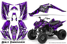 YAMAHA RAPTOR 350 GRAPHICS KIT CREATORX DECALS STICKERS BOLT THROWER PURPLE