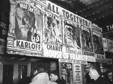 023 HOUSE OF FRANKENSTEIN THEATRE MARQUEE BORIS KARLOFF LON CHANEY JR PHOTO