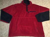 Fleece Sports Club Mens Sz XXL Red/Black Fleece EUC Thumb Holes