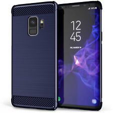 Samsung Galaxy S9 & S9 Plus Carbon Fibre TPU Silicone Gel Case Protection Cover