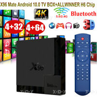 X96 Mate Android 10.0 4+32/64G 4K Smart TV Box Quad Core 5G WIFI BT Media Player