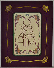 "Set 12 MAGNETIC CARD Christmas Greetings ""O COME LET US ADORE HIM"" FREE SHIPPING"