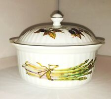 VINTAGE ROYAL WORCESTER EVESHAM GOLD COVERED  ROUND BAKE & SERVE CASSEROLE