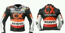HONDA CX REPSOL MOTORBIKE  LEATHER JACKET CE APPROVED