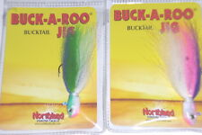 Northland Tackle Buck-A-Roo 1/2 Bucktail Jigs (Lot of 2-Best Colors)