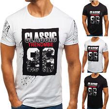 BOLF Hombre Camiseta De Manga Corta Impreso Cuello Redondo Casual 3C3 Motivo