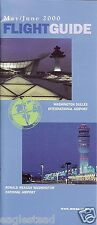 Airline Timetable - Washington - Dulles - Ronald Reagan Airports - 05/00