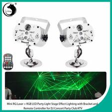 2PCS U'King RGB LED Laser Stage Effect Lighting+Remote DJ Concert Party Club KTV
