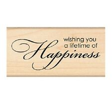 PENNY BLACK RUBBER STAMPS HAPPINESS NEW wood STAMP