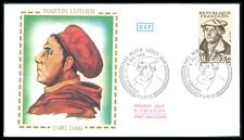 FRANCE FDC 1983 MARTIN LUTHER KATECHISMUS LUTERO CATECHISM ERSTTAGSBRIEF bf27