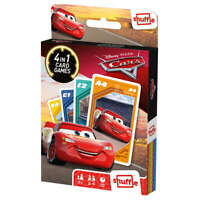 Shuffle fun 4 in 1 Disney Cars - Snap, Happy Families, Pairs and an Action Game