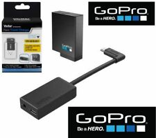 Original GoPro HERO 7 6 5 BLACK PRO 3.5mm MIC ADAPTER + EXTRA BATTERY + CHARGER