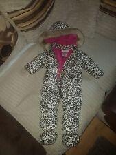 Juicy couture lepoard print snowsuit. Age 6-9 months.Good condition