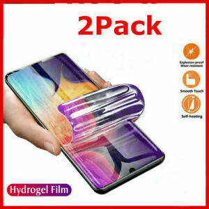 2-Pack HYDROGEL Screen Protector For Samsung Galaxy S10 S21 Plus Note 20 Ultra