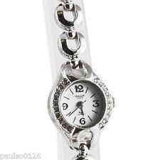 Ladies Bracelet Dress Watch by Omax ( Chrome Colour ) White Face AW300HI