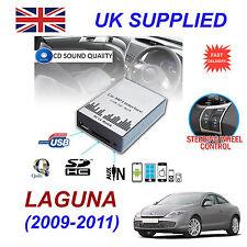 LAGUNA 2009-11 mp3 USB SD CD AUX Input Adattatore Audio Digitale Caricatore CD Modulo