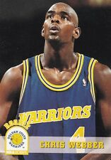 1993-94 NBA Hoops #341 Chris Webber Golden State Warriors RC Basketball Card