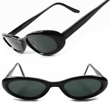 Classic Vintage Retro Sexy Black Womens 40's 50's Small Cat Eye Sunglasses B96