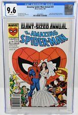 Amazing Spider-Man Annual #21 (1987) CGC 9.6 Newsstand Wedding Cover Marvel