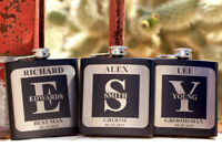 Christmas Bridesmaid Gift for Groomsmen Winter Snow Slopes Personalized Ski Flask for Birthday