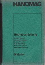 LKW HANOMAG  MATADOR 1965  Betriebsanleitung Manual Instructieboekje Manuale BA