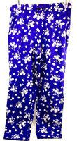 Children's Place Est. 1989 Girls Size XL 14 Purple Floral Pattern Comfy PJ Pants