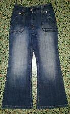 BOYS Sz 4 blue denim TARGET bootleg jeans COOL! ELASTIC WAIST! TRENDY!