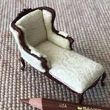 "Bespaq Cream Fabric Sofa Lounge Couch HALF INCH 1:24  1/2"" Scale 2575"