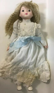 """Hillview Lane 21"""" Porcelain Doll - Marked & Dated 1986 In Good Condition"""