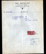 """AVIGNON (84) GLACES ESQUIMAUX """"Henry MONTEFUSCO"""" en 1938"""