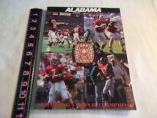 University of Alabama Crimson Tide 1993 Football Media Guide