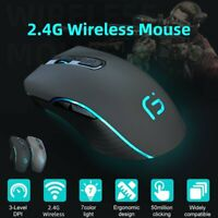 Wireless Cordless Mouse Optical Scroll 2.4GHz PC Computer USB Bluetooth 5.0 Mice