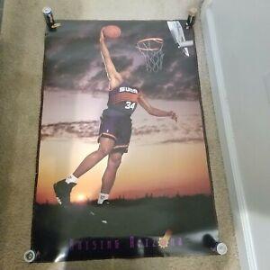 "VTG Original 1993 Charles Barkley Raising Arizona Nike Poster Suns 23"" x 25"""