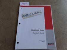 Case Rr90 Finish Mower Operators Manual 87758963