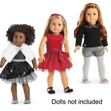 AMERICAN GIRL Lot Of 3 Outfits Black Sparkle,joyful Jewels,sparkle Spotlight 🎁
