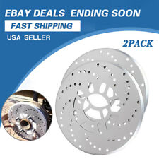 Silver Tone Aluminum Cross Drilled Car Disc Brake Rotor Cover 4/5 bolts wheel x2