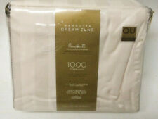 Queen Sheet Set 1000Tc Wamsutta Dream Zone Ivory Striped 100% Pima Cotton Dp 20""