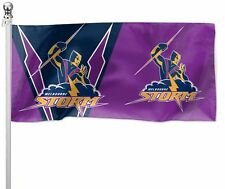 Melbourne Storm NRL Pole Flag 1800mm by 900mm Cape