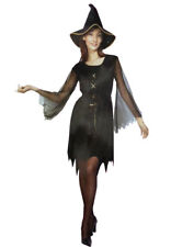 Women Gypsy Witch Costume Halloween Ladies Witch Fancy Dress Party Outfit
