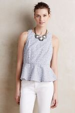 NWT Anthropologie Pia Peplum Tank by HD in Paris, Size 12, Eyelet floral top $98