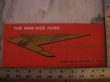 Original 1960 60 Ford Falcon Sales Brochure Flyer Advertisement Dealer Stamp