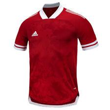 Adidas Condivo 20 Training Top Men's Short Shirts Football Jersey Red Ft7257