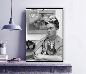 Frida sitting in her Living Room - Frida Kahlo Vintage Photo Print