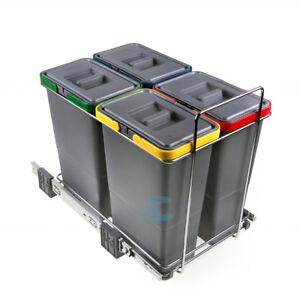 Pattumiera cucina sottolavello scorrevole differenziata 4 cesti 32 litri PATT4