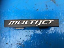 FIAT GRANDE PUNTO SILVER MULTIJET GRILLE BADGE GENUINE FIAT 51782370 (2006-2010)