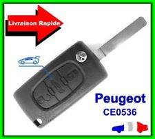 Key Remote Shell Peugeot 3 Buttons Trunk 207 307 308 407 607 CE0536