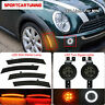 Smoked Lens Halo Turn Signal Light+ Side Marker Lamp For MINI Cooper R50 R52 R53
